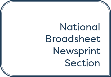 National Broadsheet Newsprint Section