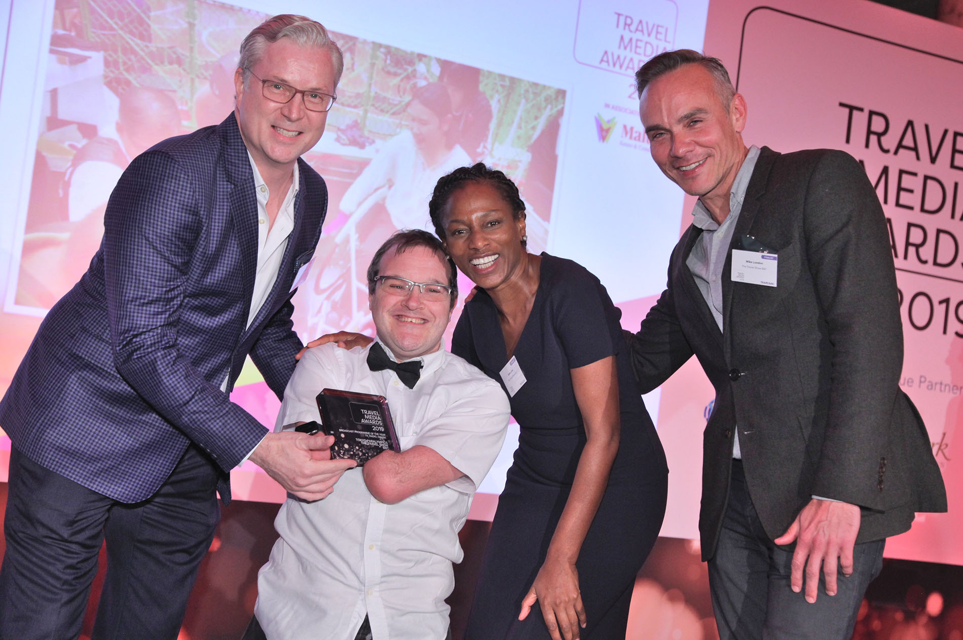 BBC Travel Show are presented with a Travel Media Award