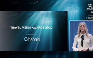 Screenshot of Travel Media Awards 2020